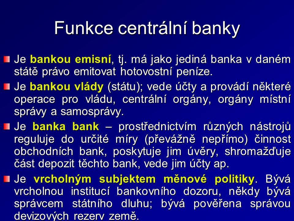 Funkce centrální banky