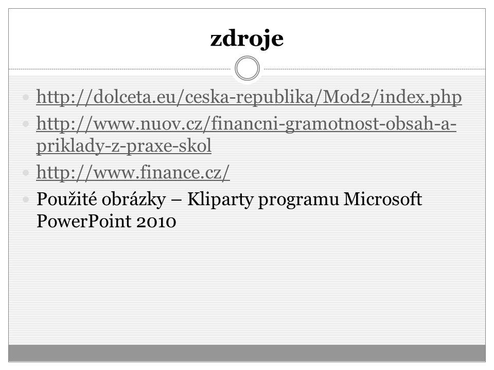 zdroje http://dolceta.eu/ceska-republika/Mod2/index.php