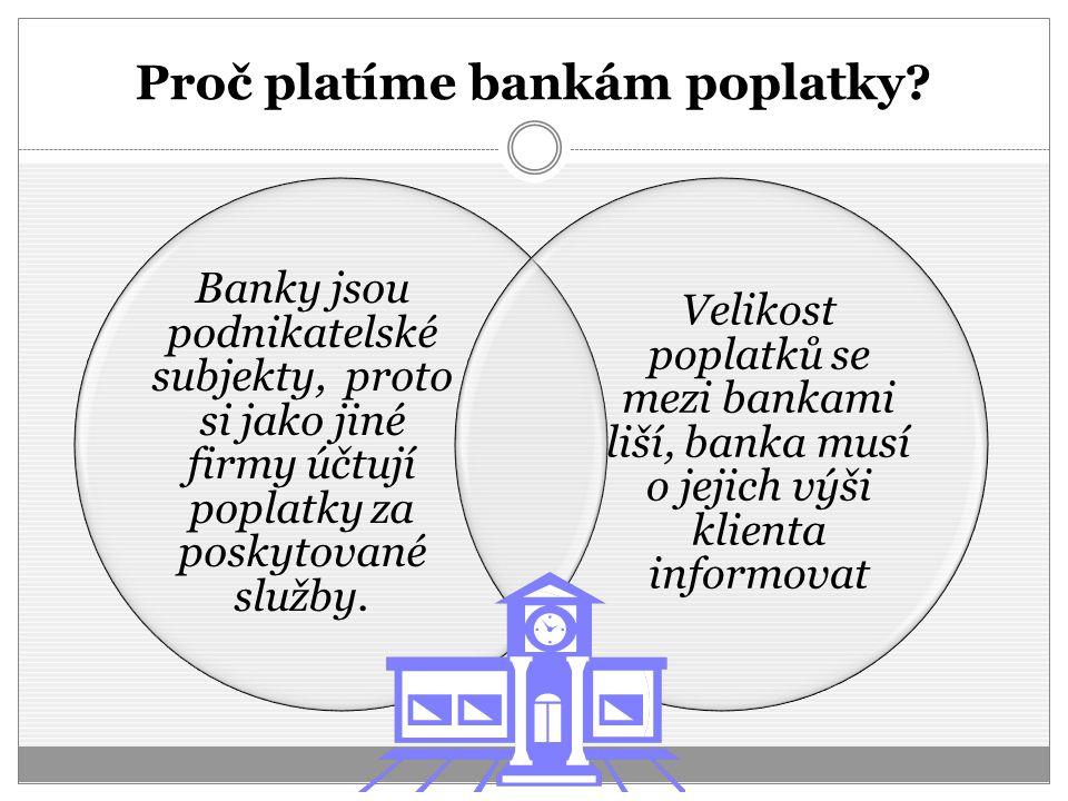 Proč platíme bankám poplatky