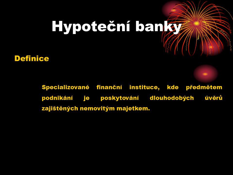 Hypoteční banky Definice