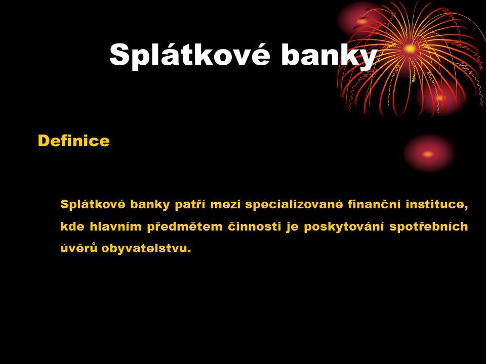 Splátkové banky Definice