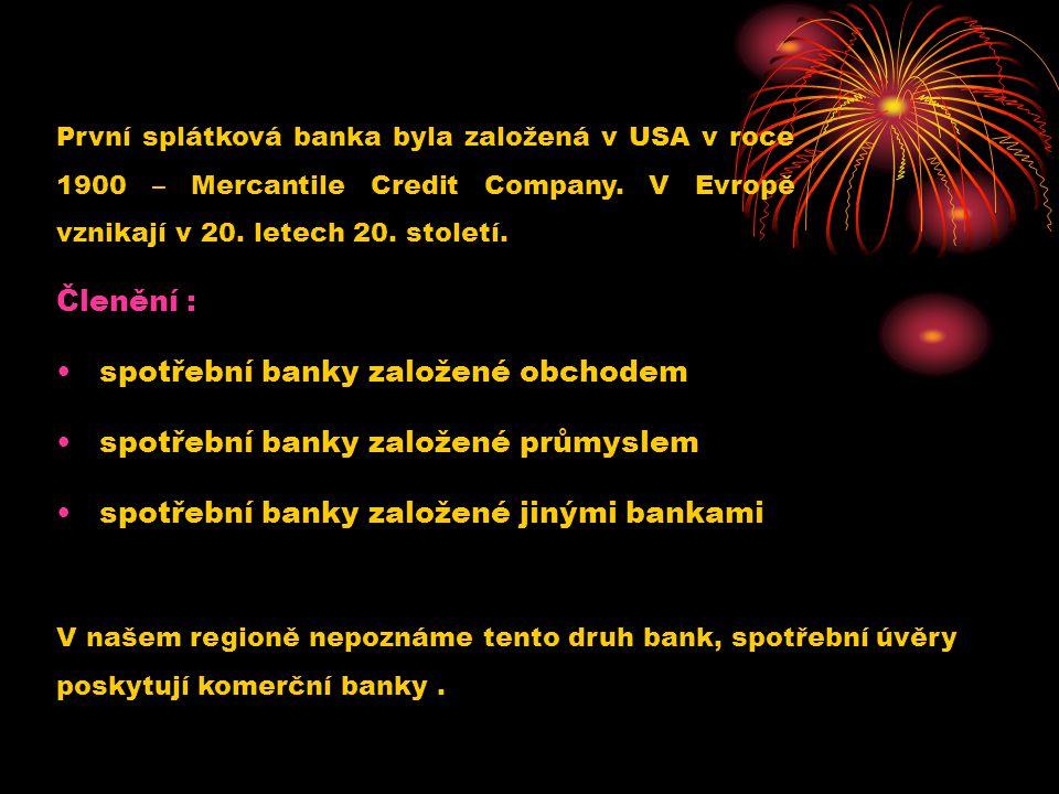 spotřební banky založené obchodem spotřební banky založené průmyslem