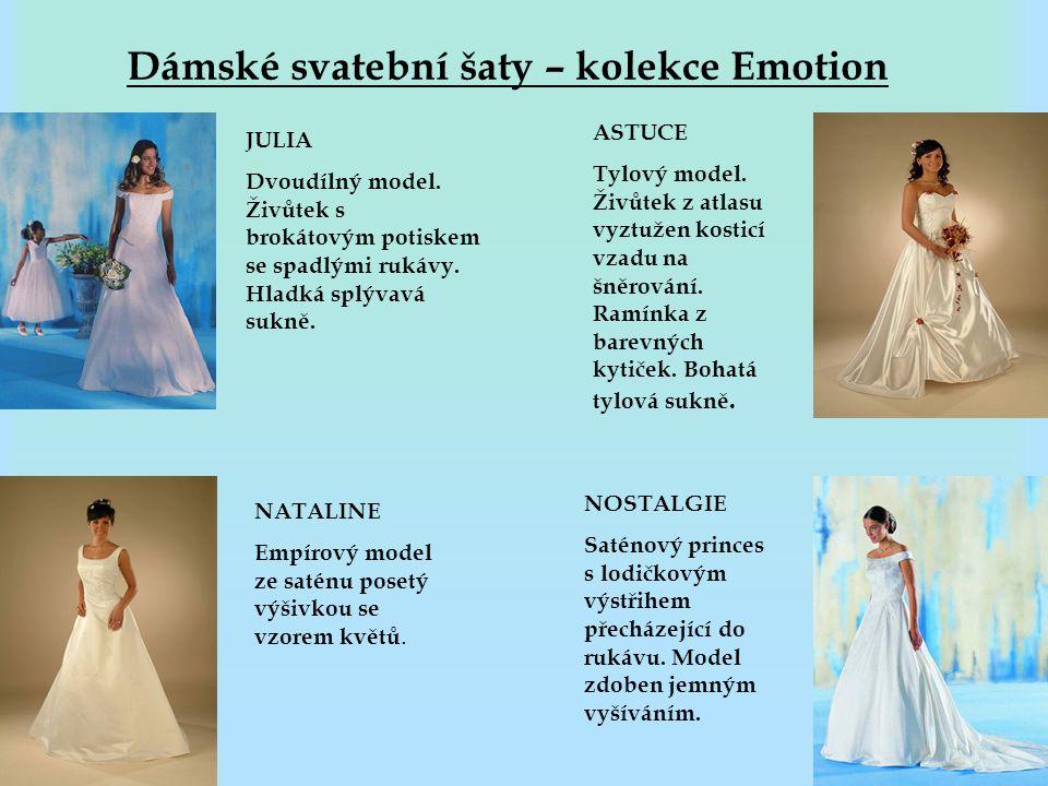 Dámské svatební šaty – kolekce Emotion