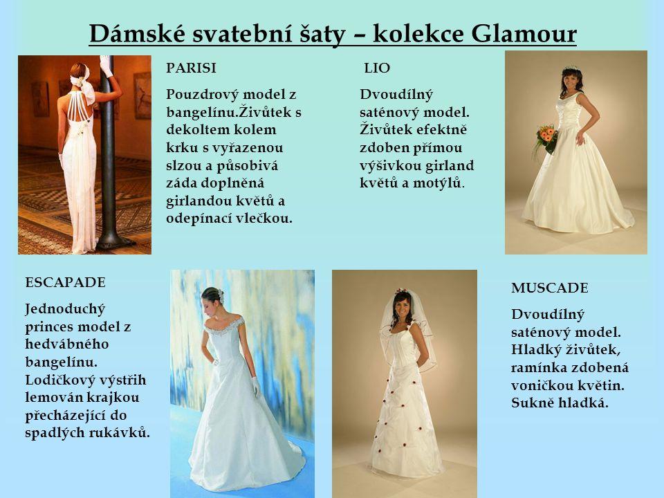 Dámské svatební šaty – kolekce Glamour
