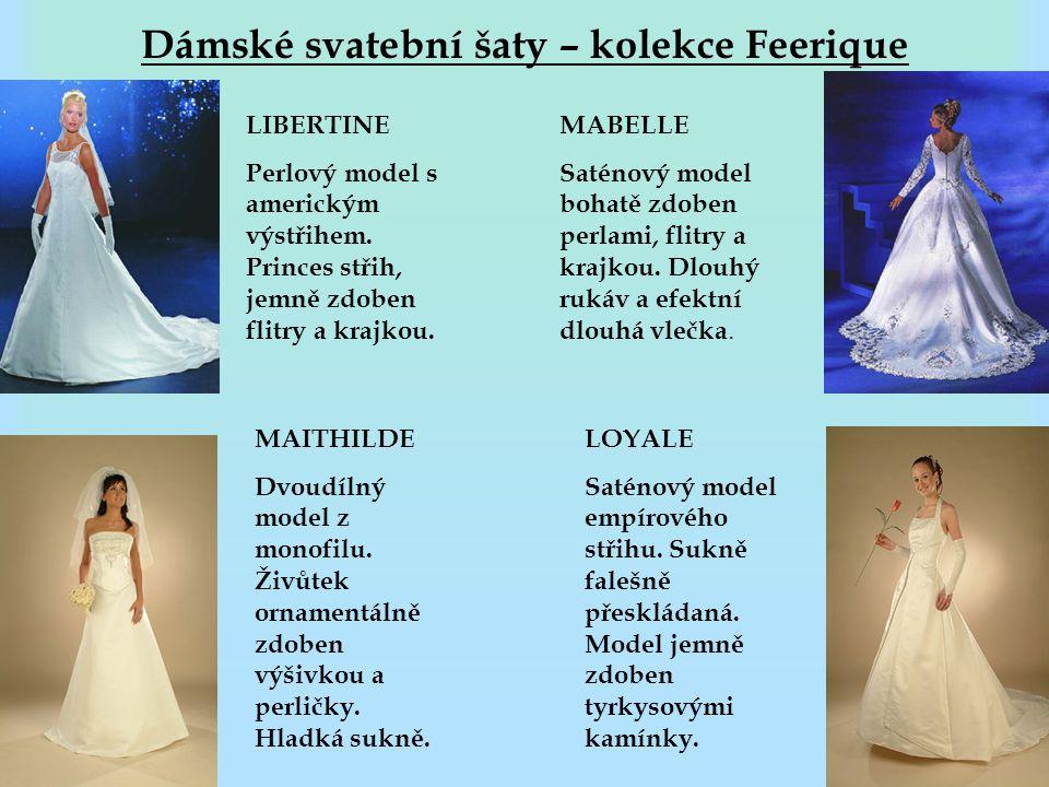 Dámské svatební šaty – kolekce Feerique