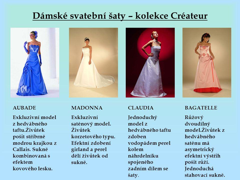 Dámské svatební šaty – kolekce Créateur