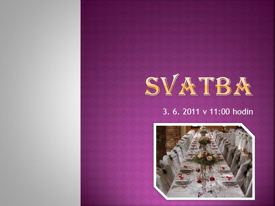Svatba 3. 6. 2011 v 11:00 hodin