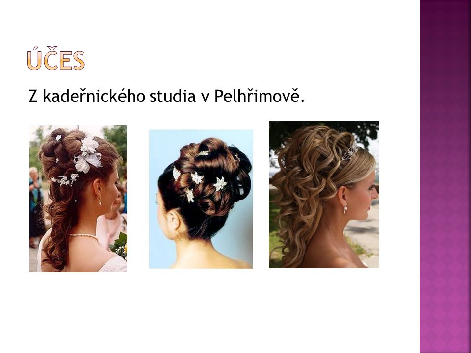 Účes Z kadeřnického studia v Pelhřimově.