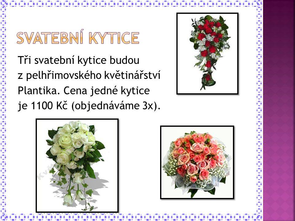 Svatební kytice Tři svatební kytice budou z pelhřimovského květinářství Plantika.