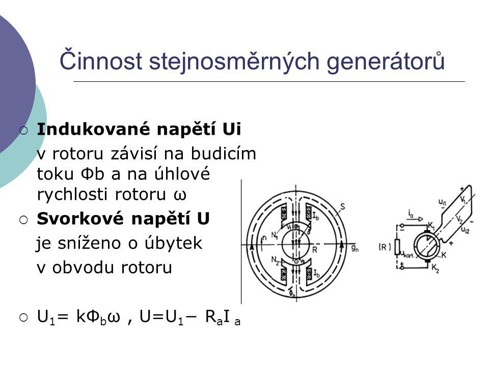 Činnost stejnosměrných generátorů