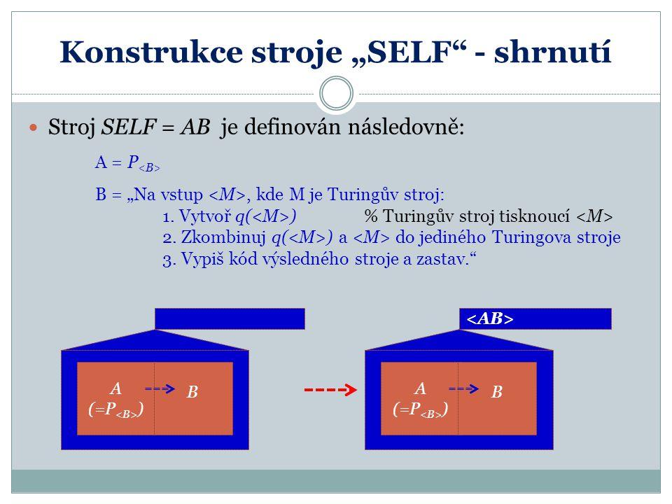 "Konstrukce stroje ""SELF - shrnutí"