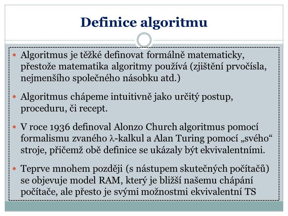 Definice algoritmu