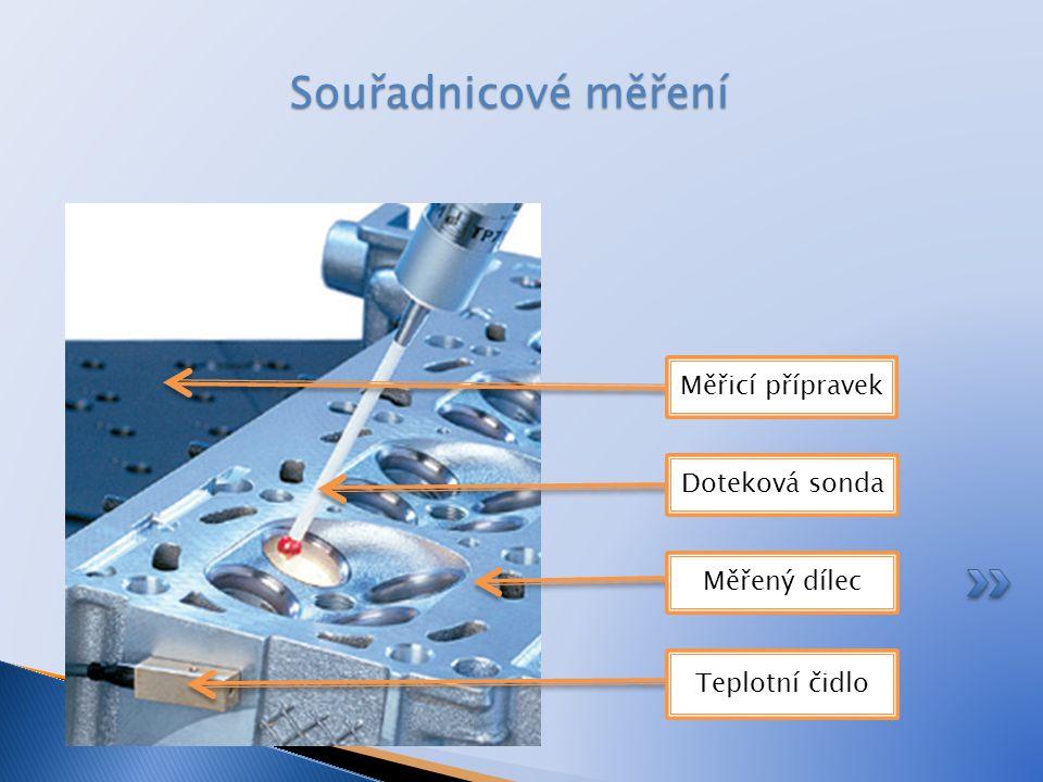 Souřadnicové měření Měřicí přípravek Doteková sonda Měřený dílec