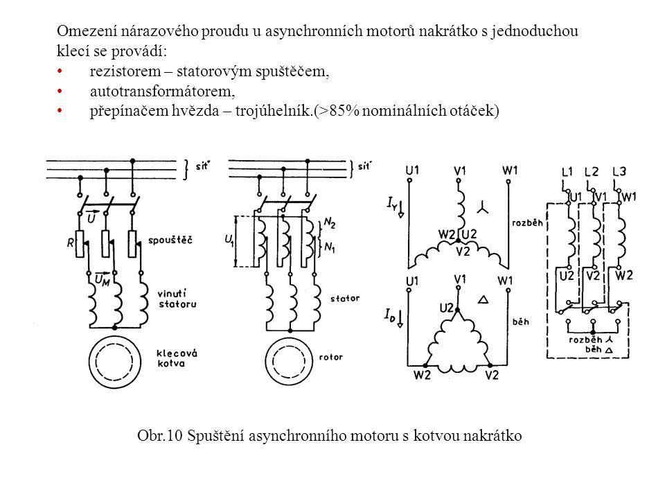 Obr.10 Spuštění asynchronního motoru s kotvou nakrátko