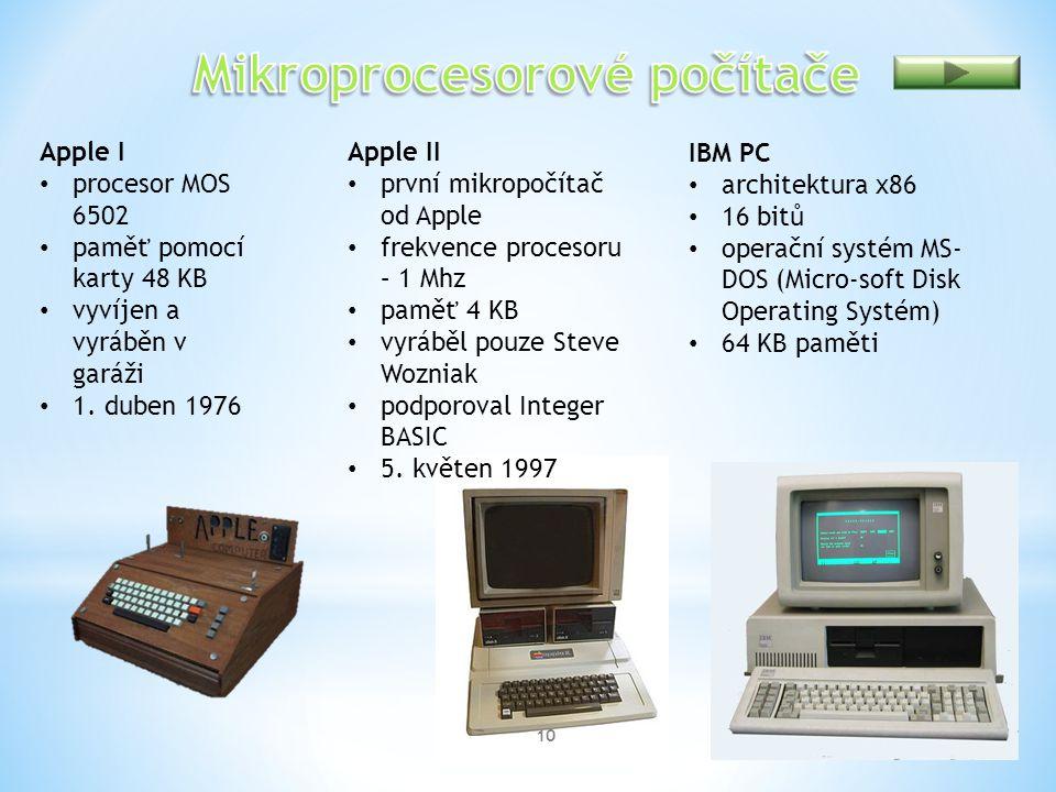 Mikroprocesorové počítače