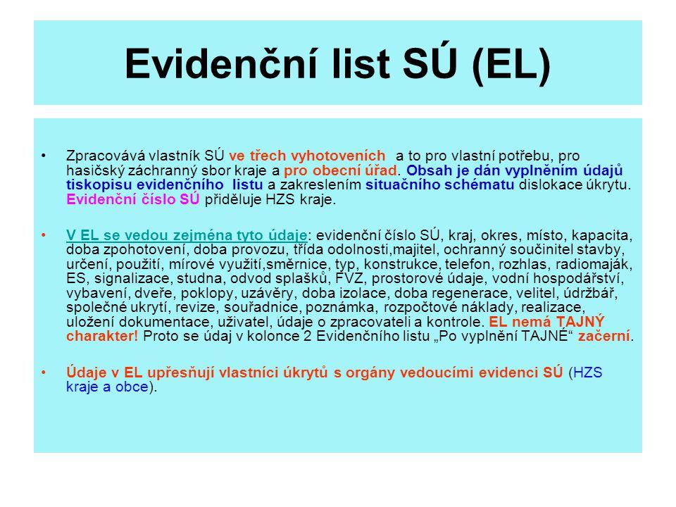 Evidenční list SÚ (EL)