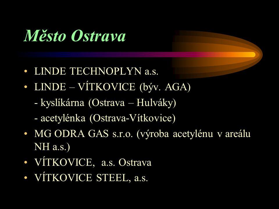 Město Ostrava LINDE TECHNOPLYN a.s. LINDE – VÍTKOVICE (býv. AGA)