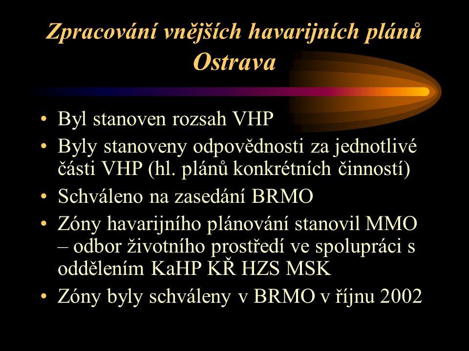 Zpracování vnějších havarijních plánů Ostrava