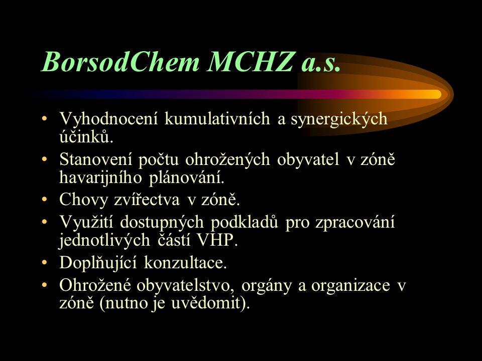 BorsodChem MCHZ a.s. Vyhodnocení kumulativních a synergických účinků.