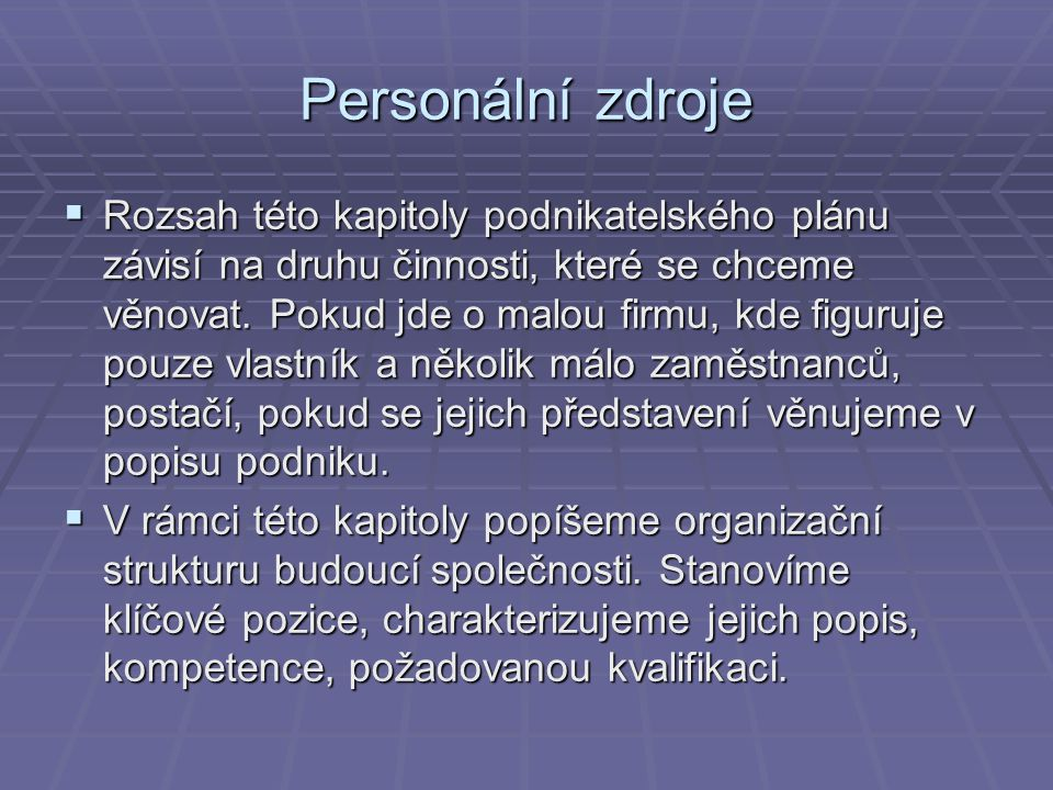 Personální zdroje