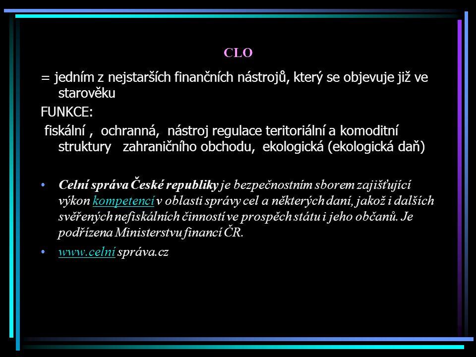 CLO = jedním z nejstarších finančních nástrojů, který se objevuje již ve starověku. FUNKCE: