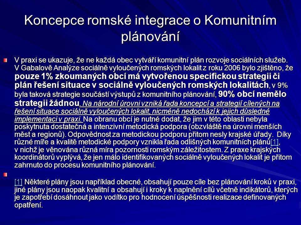 Koncepce romské integrace o Komunitním plánování