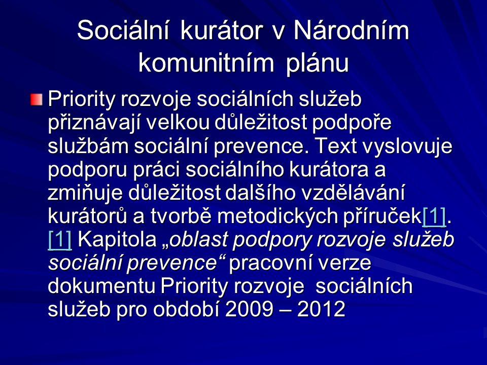 Sociální kurátor v Národním komunitním plánu