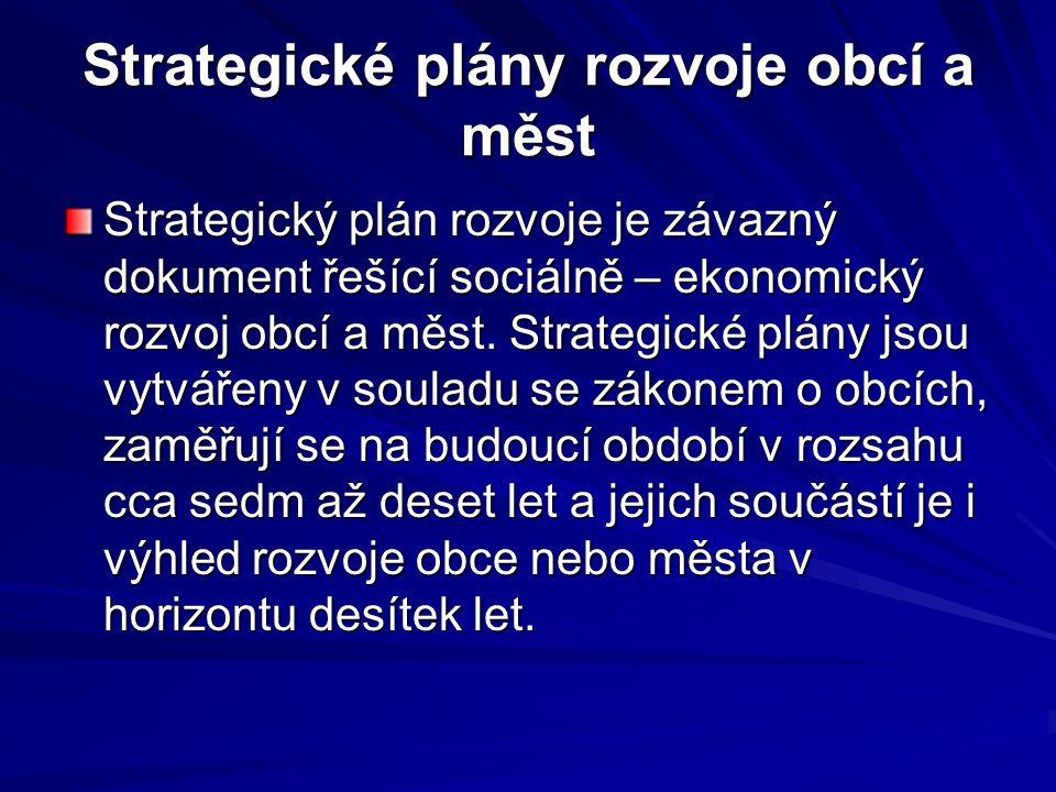 Strategické plány rozvoje obcí a měst