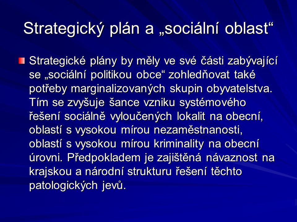 """Strategický plán a """"sociální oblast"""