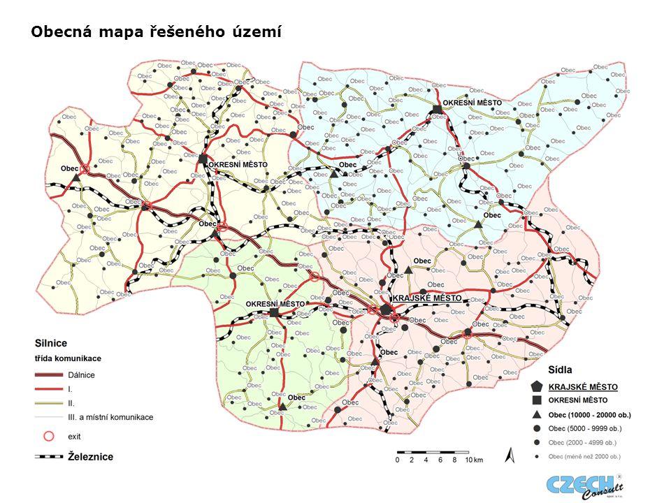Obecná mapa řešeného území