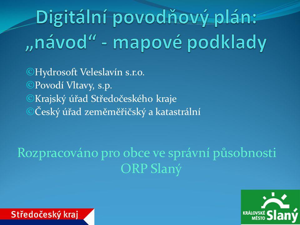 """Digitální povodňový plán: """"návod - mapové podklady"""