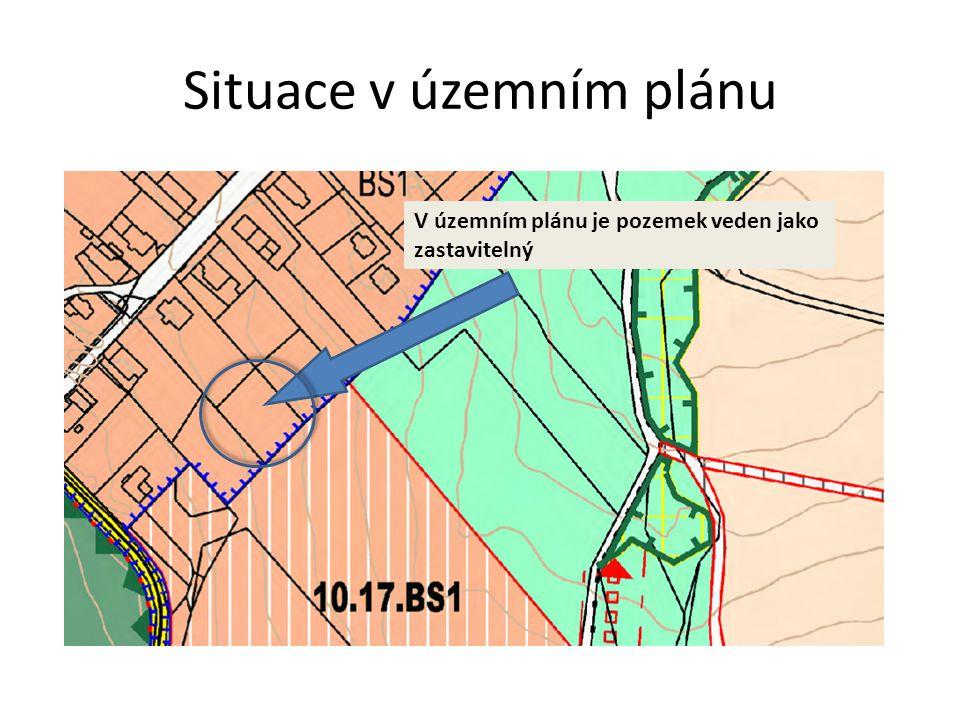 Situace v územním plánu