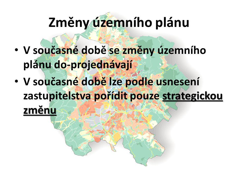 Změny územního plánu V současné době se změny územního plánu do-projednávají.
