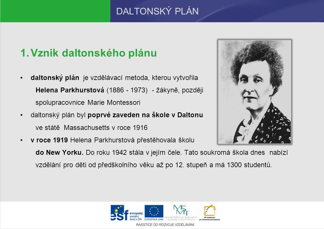 Vznik daltonského plánu