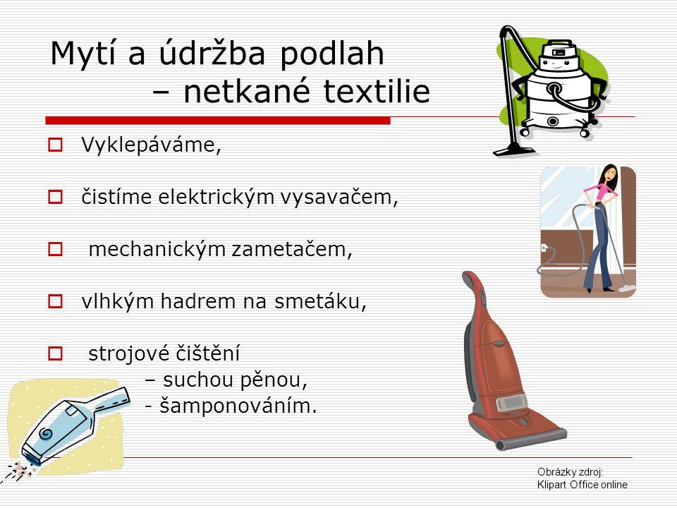 Mytí a údržba podlah – netkané textilie