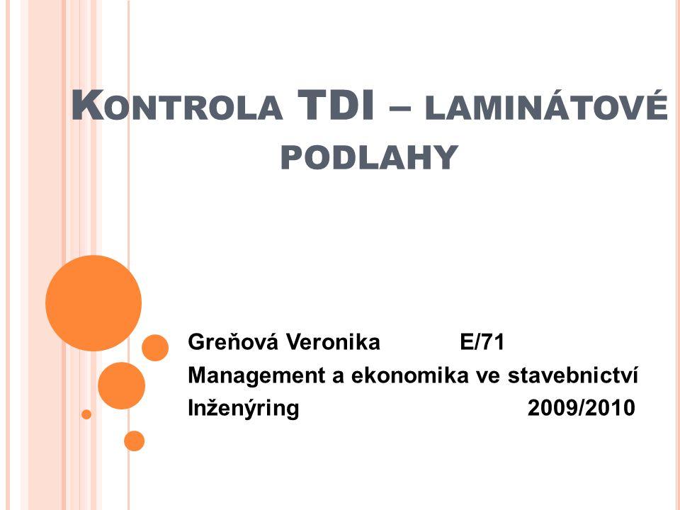 Kontrola TDI – laminátové podlahy