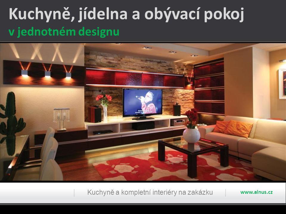 Kuchyně, jídelna a obývací pokoj
