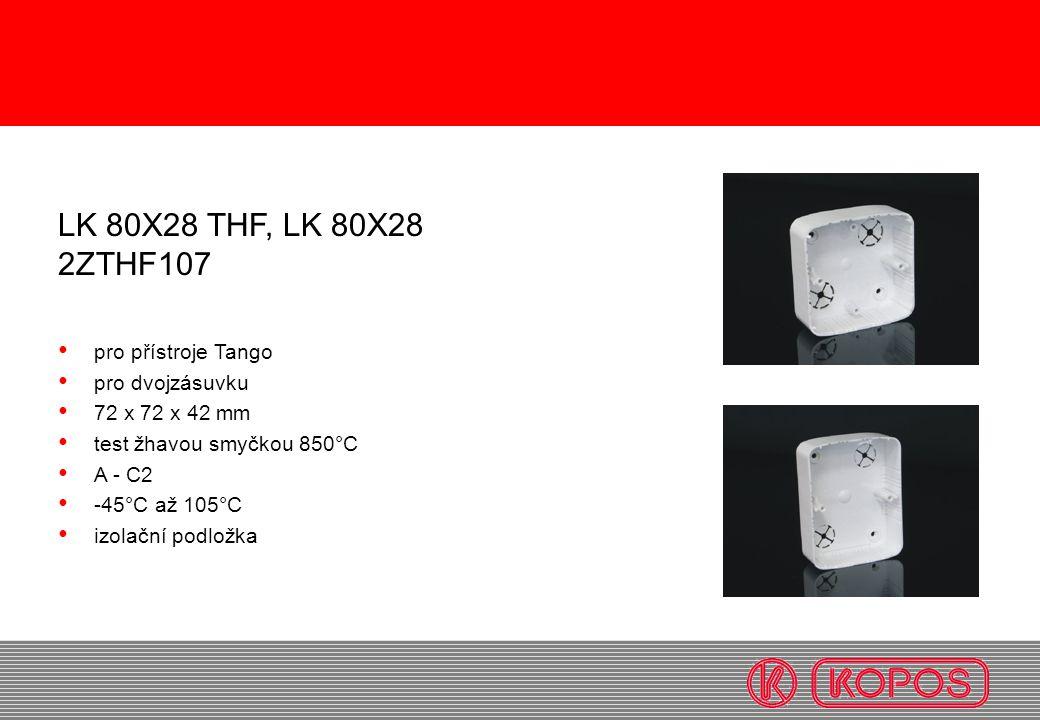 LK 80X28 THF, LK 80X28 2ZTHF107 pro přístroje Tango pro dvojzásuvku