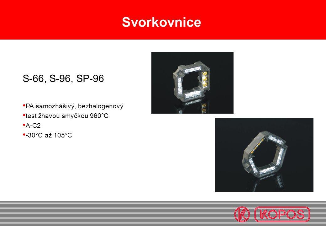 Svorkovnice S-66, S-96, SP-96 PA samozhášivý, bezhalogenový