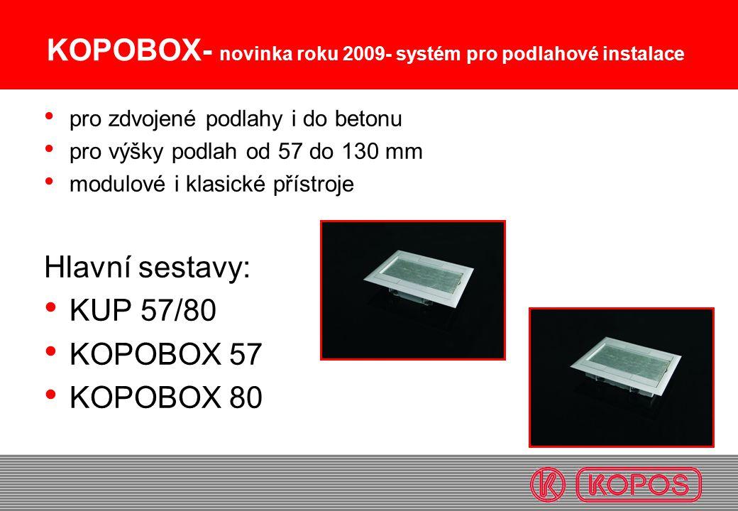 KOPOBOX- novinka roku 2009- systém pro podlahové instalace