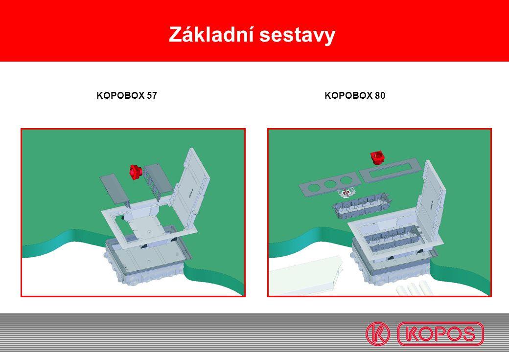 Základní sestavy KOPOBOX 57 KOPOBOX 80