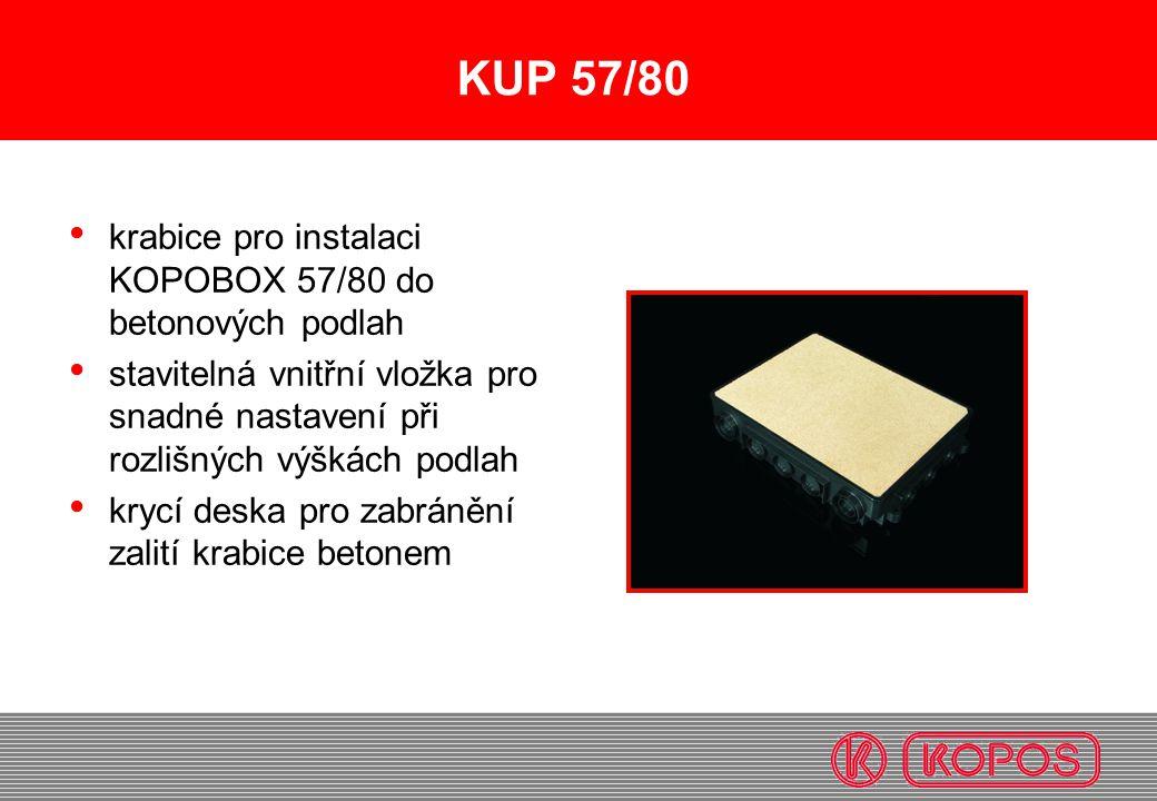 KUP 57/80 krabice pro instalaci KOPOBOX 57/80 do betonových podlah