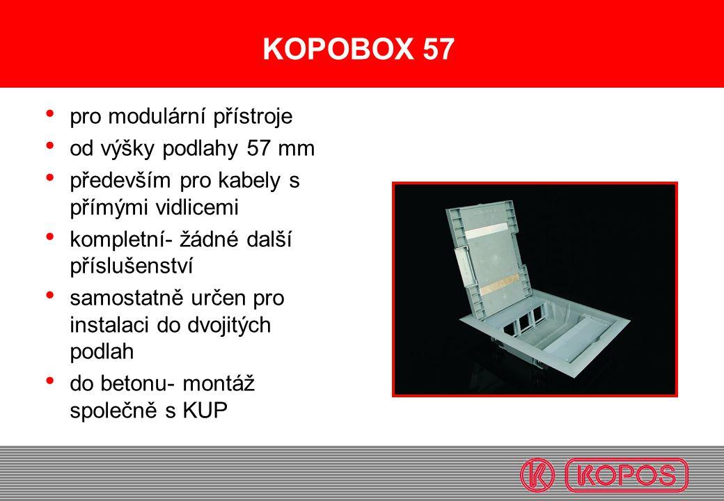 KOPOBOX 57 pro modulární přístroje od výšky podlahy 57 mm