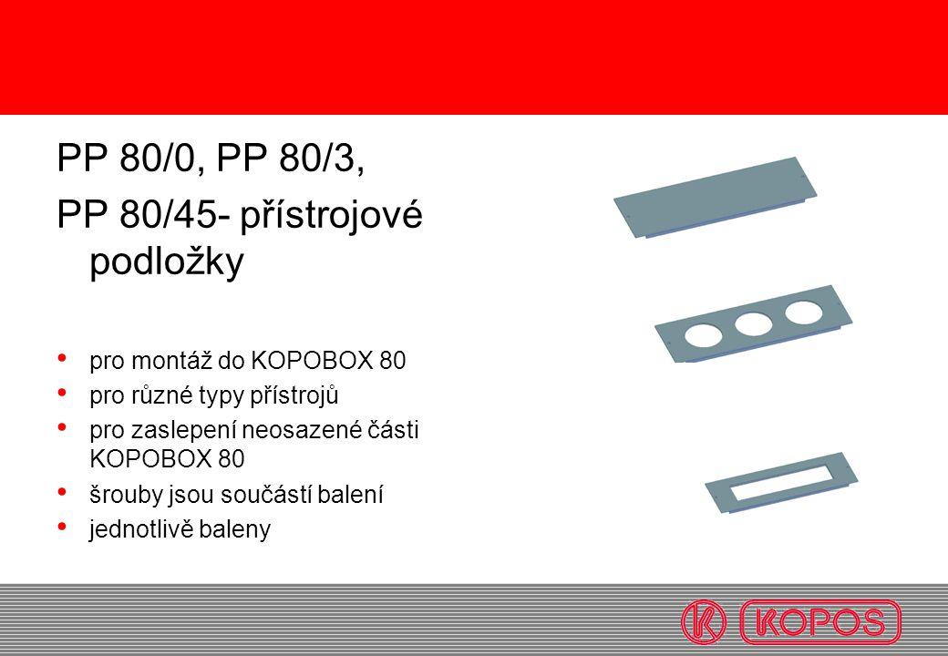 PP 80/45- přístrojové podložky