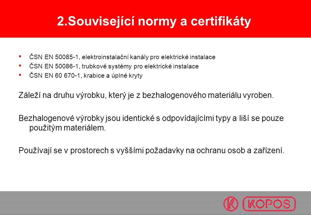 2.Související normy a certifikáty
