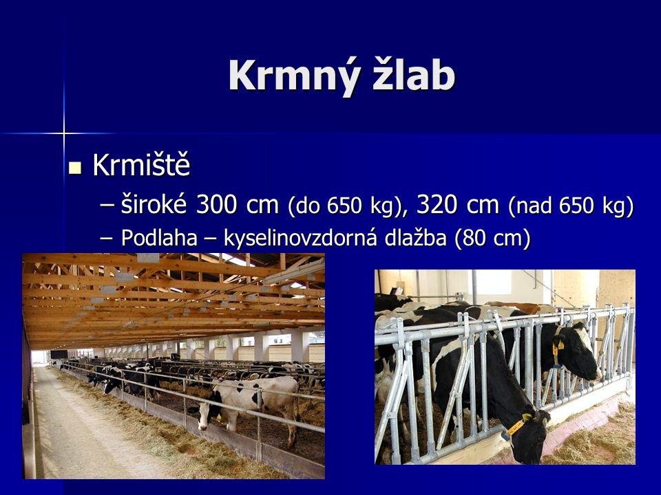 Krmný žlab Krmiště široké 300 cm (do 650 kg), 320 cm (nad 650 kg)