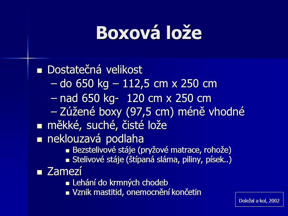 Boxová lože Dostatečná velikost do 650 kg – 112,5 cm x 250 cm