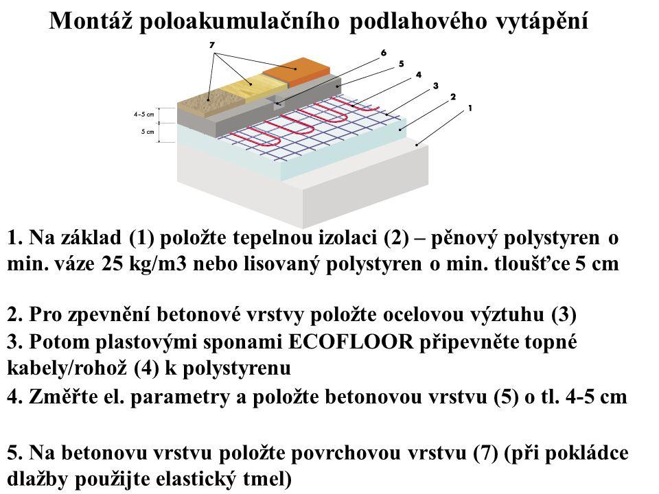 Montáž poloakumulačního podlahového vytápění