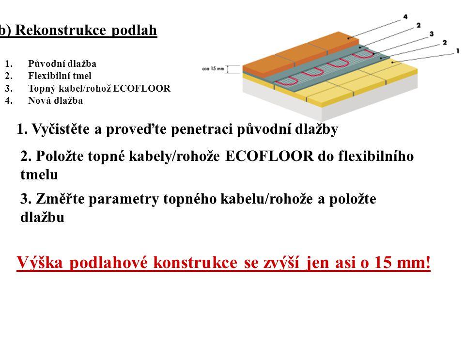 b) Rekonstrukce podlah