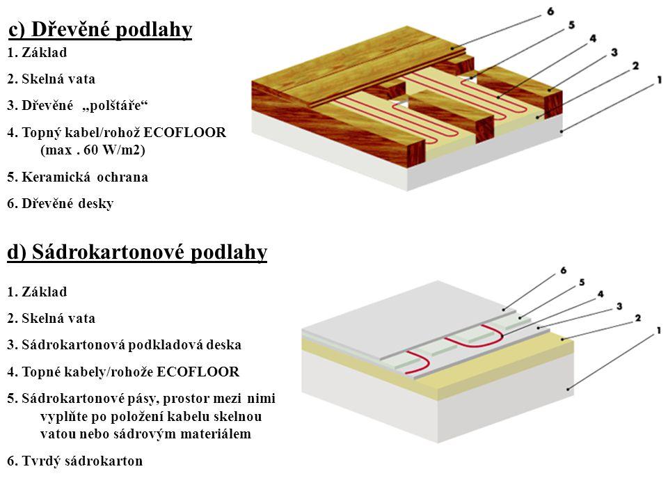d) Sádrokartonové podlahy